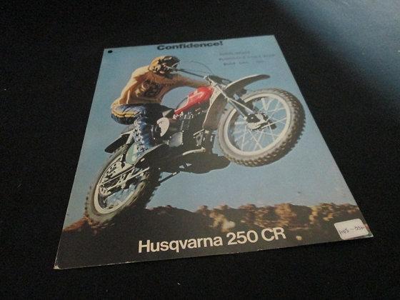 Husqvarna 250 CR Sales Flyer