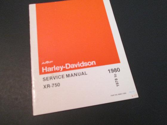 Harley Davidson XR-750  1978-1980 Service Manual XR750