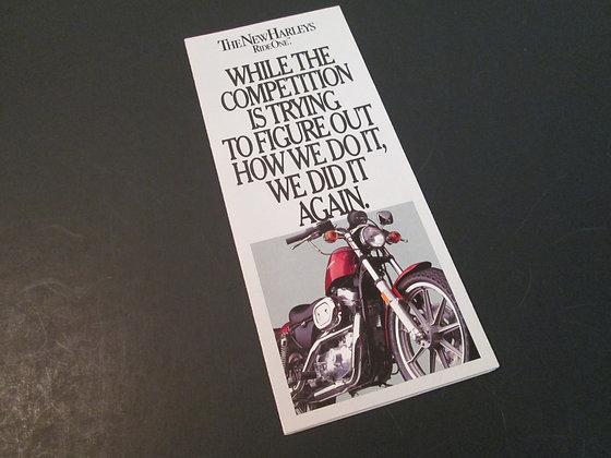 Harley Davidson 1985 Line Up Sales Brochure