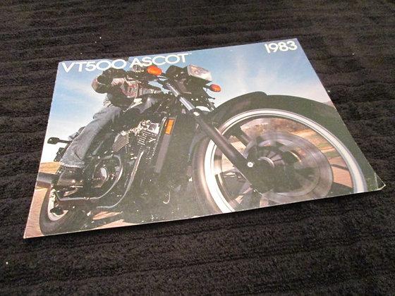 Honda 1983 VT500 ASCOT Sales Brochure