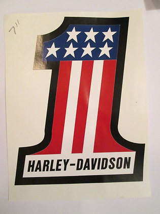 "Harley Davidson 8"" #1 Decal"