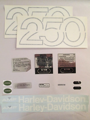 Harley MX-250 Decal Set W/Steering Neck