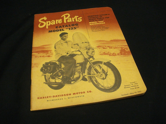 1948-51 Spare Parts Catalog Model 125 Motorcycle