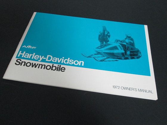 AMF Harley Davidson Snowmobile Owners Manual