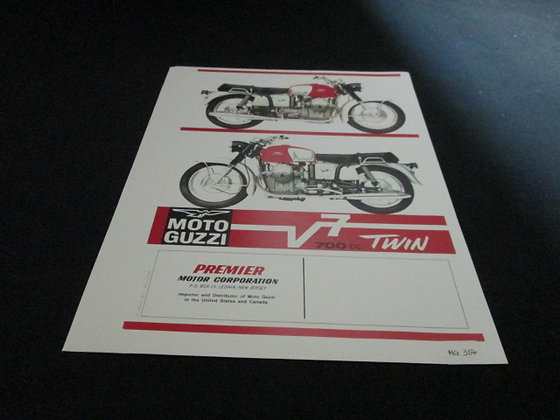 Moto Guzzi VT7 700cc Twin Sales Flyer