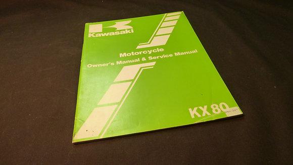 1984 Kawasaki KX80-E3-F3 Owners / Service Manual