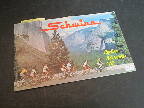 "1974 Schwinn Bicycle Sales Brochure ""Cycling Adventures"""