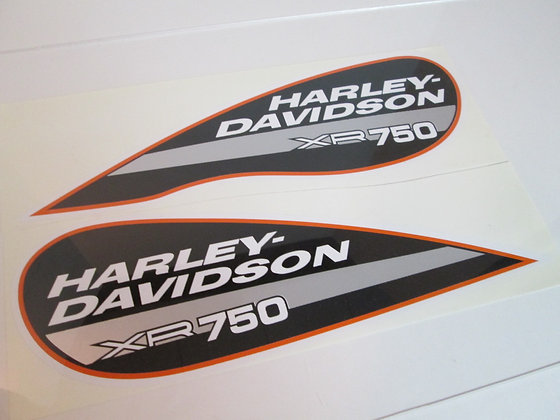 XR750 Harley Davidson Tear Drop w/Dip Tank Decal