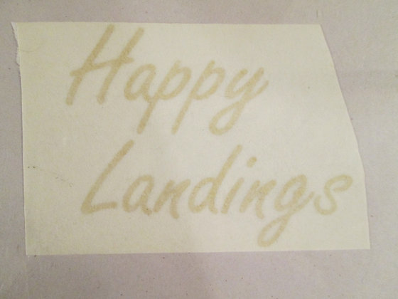 Evel Knievel Happy Landings Gold/Black Tail Decal