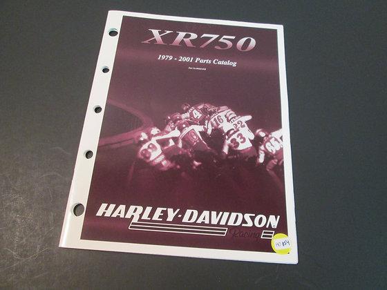 Harley Davidson XR-750 1979-2001 Parts Catalog