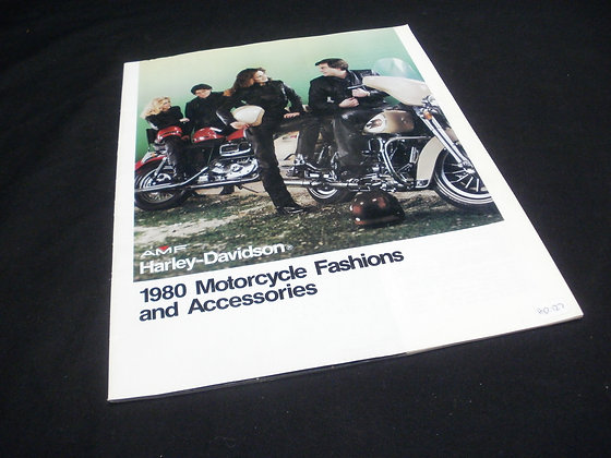 1980 Harley Davidson Motorcycle Fashions and Accessories Catalog