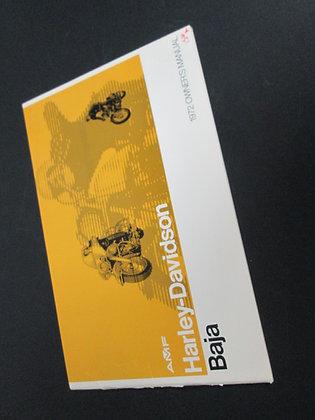 Harley Davidson Baja 1972 Owners Manual