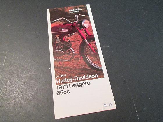 1971 AMF Harley Davidson Leggero Sales Brochure