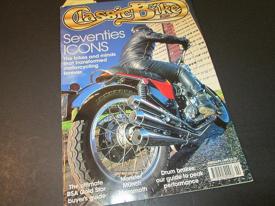 Classic Bike Magazine February 1999 Edition
