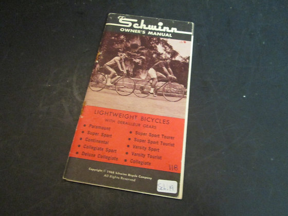 1968 Schwinn Owners Manual