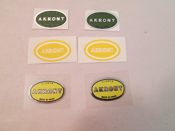 3 Pair Akront Decals Harley Bultaco Pursang Astro