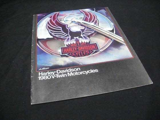 1980 Harley Davidson V-Twin Motorcycles Sales Brochure
