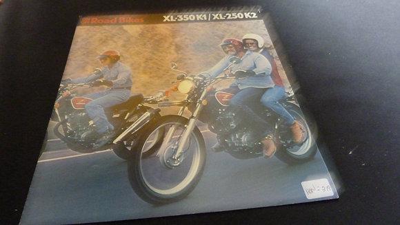 Honda XL-350 K1/ XL-250 K2 1974 Sales Brochure