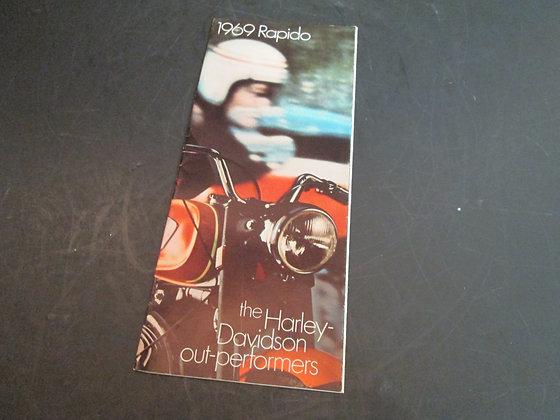 Harley-Davidson 1969 Rapido Sales Brochure