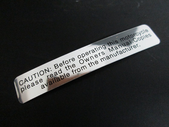 Caution Before Operating Decal