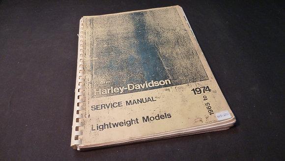 1965-77 AMF Harley-Davidson Service Manual Light Weight Models