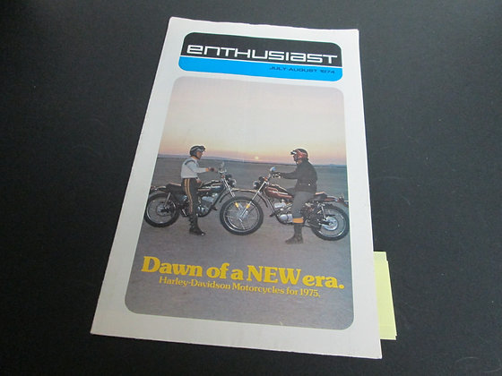 Harley Davidson  July-August 1974 Enthusiast