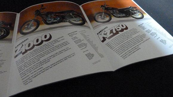 Kawasaki Street Bikes 1977 Sales Brochure Z1000
