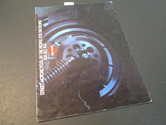 Harley Davidson XR1000 Sportster Sales Brochure