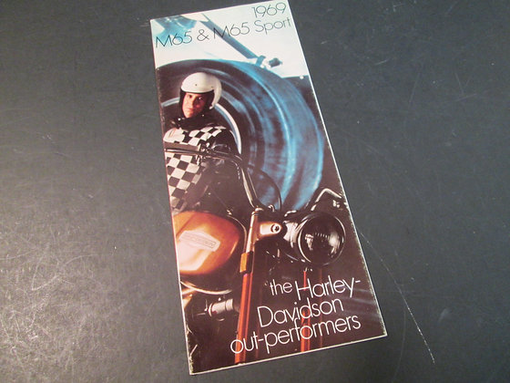 1969 Harley Davidson M65 & M65 Sport Sales Brochure