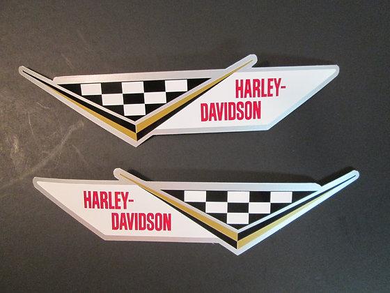 Harley Davidson XLR Oil Tank Decals Pair