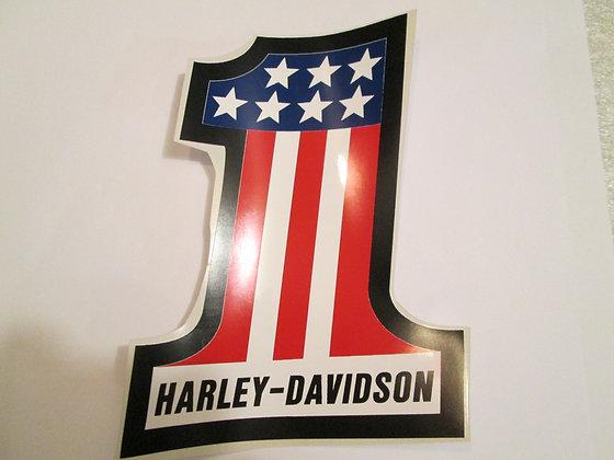 "Harley Davidson 7"" #1 Decal"