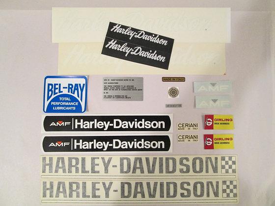 Harley Davidson XRTT Decal Set