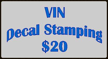 VIN Decal Stamping