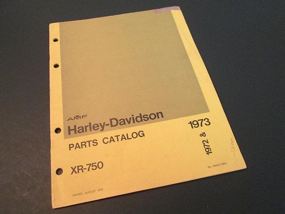 AMF Harley Davidson XR-750 1972-73 Parts Catalog