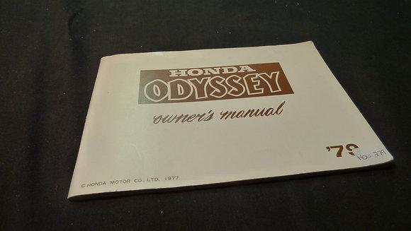 1979 Honda Odyssey Owners Manual