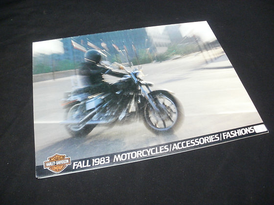 1983 Fall Harley Davidson Motorcycle Accessories and Fashions Catalog