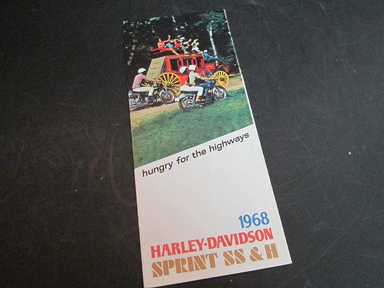 Harley-Davidson 1968 Sprint SS & H Sales Brochure