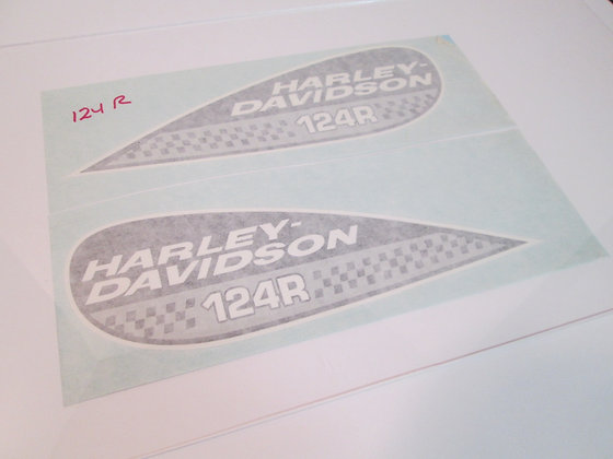 124R Harley Davidson Tear Drop Tank Decal