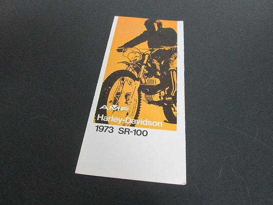 AMF Harley Davidson 1973 SR-100 Sales Brochure