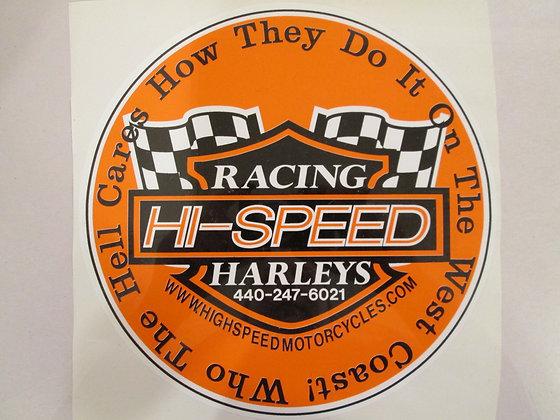 "6"" Hi-Speed Racing Harley's Decal"