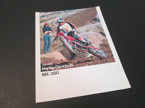 AMF Harley Davidson MX-250 MX250 Sales Brochure