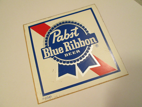 Pabst Blue Ribbon Vintage Decal