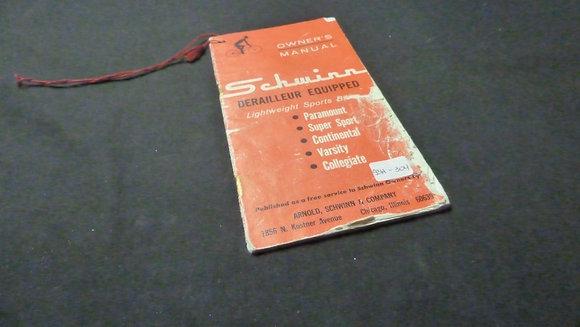 Schwinn Derailleur Equipped Owners Manual