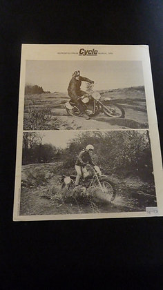 Cycle March 1970 Magazine Insert Penton 125