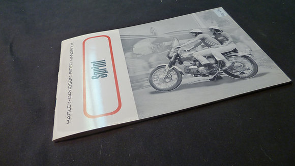 Harley-Davidson Rider Handbook Sprint