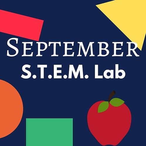 September S.T.E.M. Lab - 3 Classes