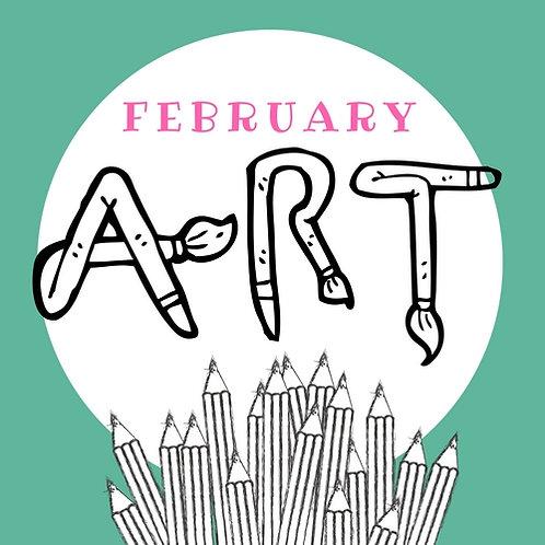 February Art - 4  Classes