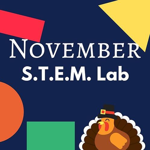 November S.T.E.M. Lab - 3 Classes