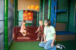 Climbing on the playground!