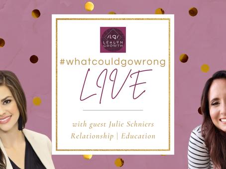 1/14/21 LIVE with Julie Schneirs - Teams, Relationships, & Education | #wcgrLIVE